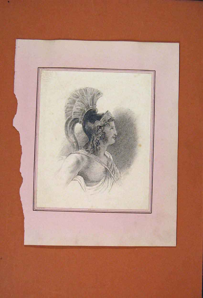 Print Portrait Eneas Drawing Fine Art C1881 106831 Old Original