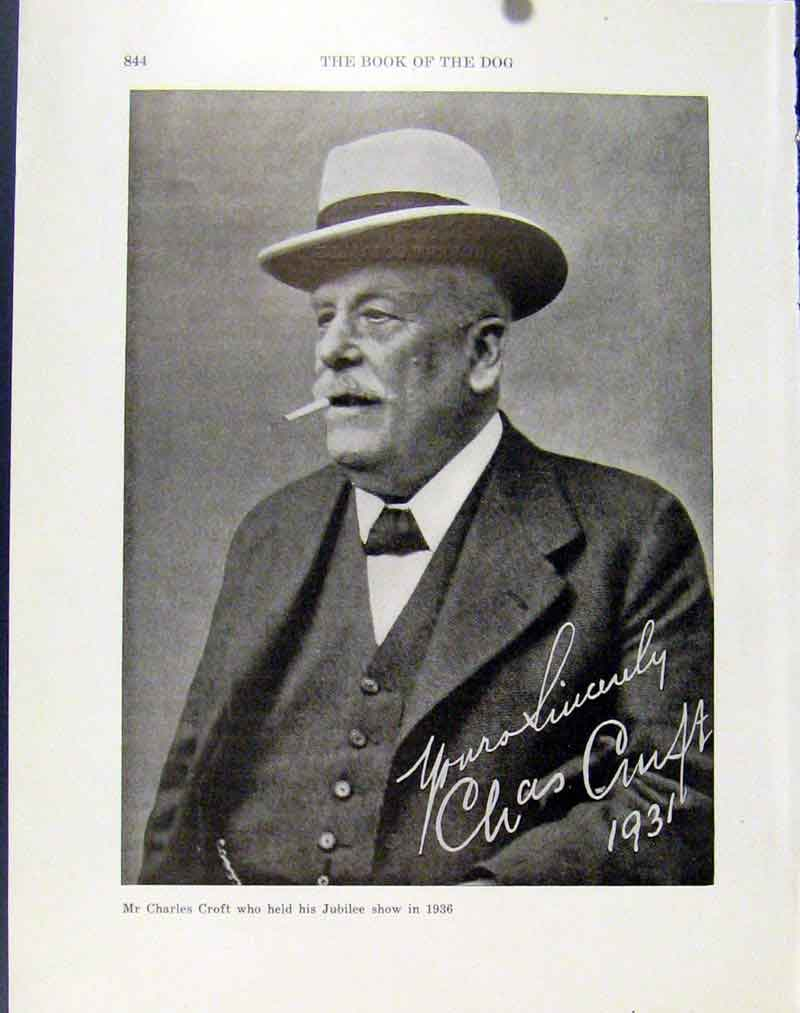 Print Mr Charles Croft Jubilee Show 1936 Photograph Autograph 247101 Old Original