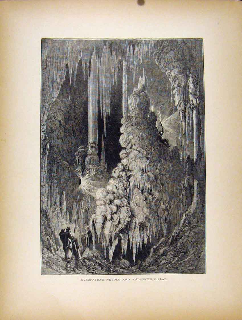 Print Cleopatras Needle Anthonys Pillar C1872 087111 Old Original