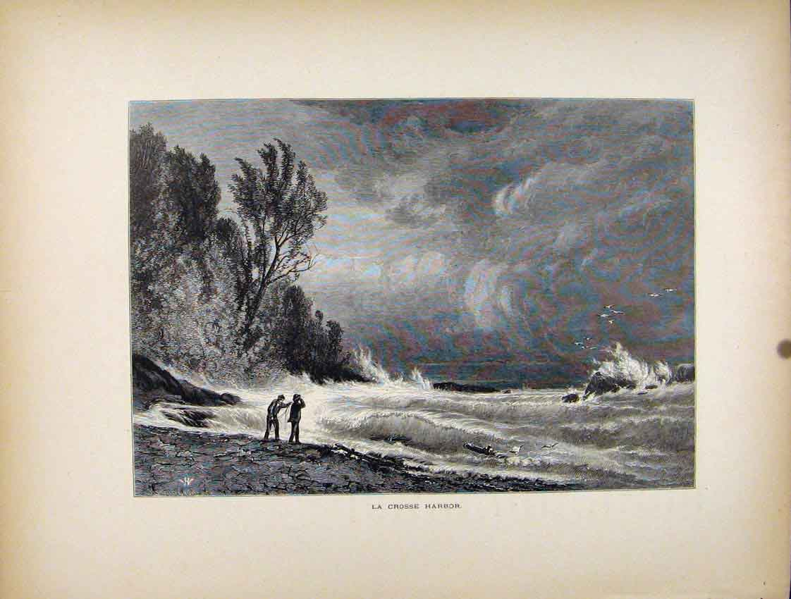 Print La Crosse Harbor Fine Art C1872 Sea 057111 Old Original