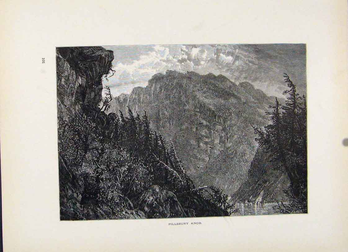 Print Pillsbuury Knob Fine Art C1872 Engravings 157121 Old Original