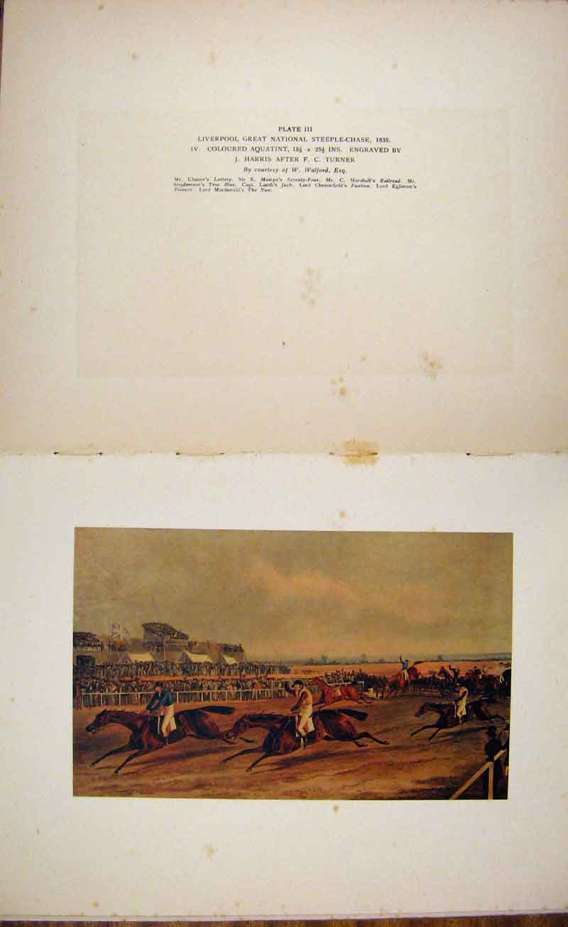 Print Liverpool Great National Steple Chase Horse Racing Art 037141 Old Original