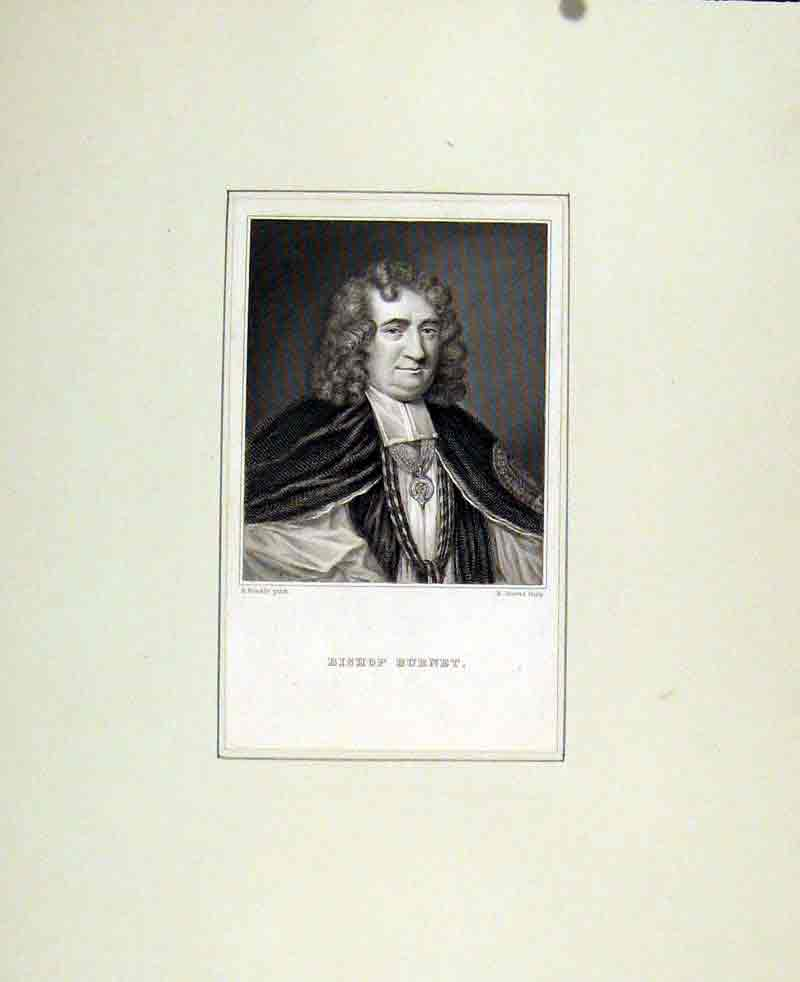 Print Bishop Burnet Portrait Fine Art C1830 797291 Old Original