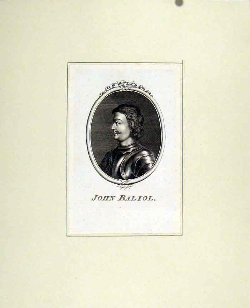 Print Portrait John Baliol Fine Art C1830 People 807291 Old Original