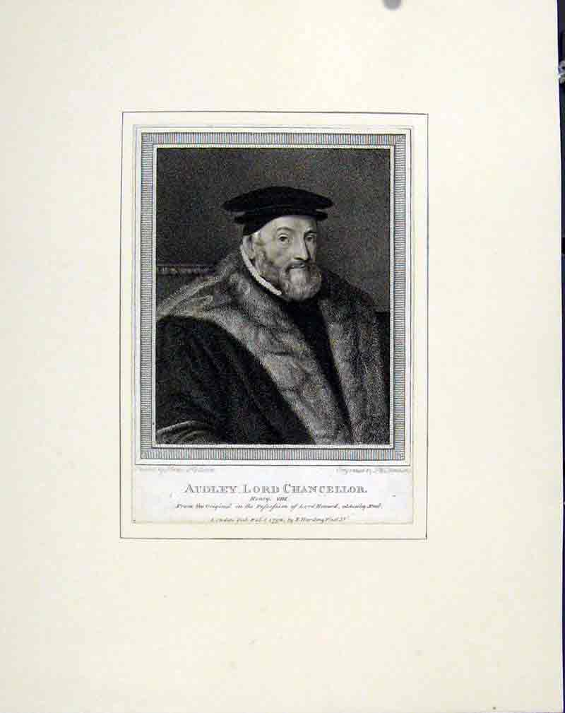 Print Audley Lord Chancellor Portrait Fine Art C1830 People 107291 Old Original