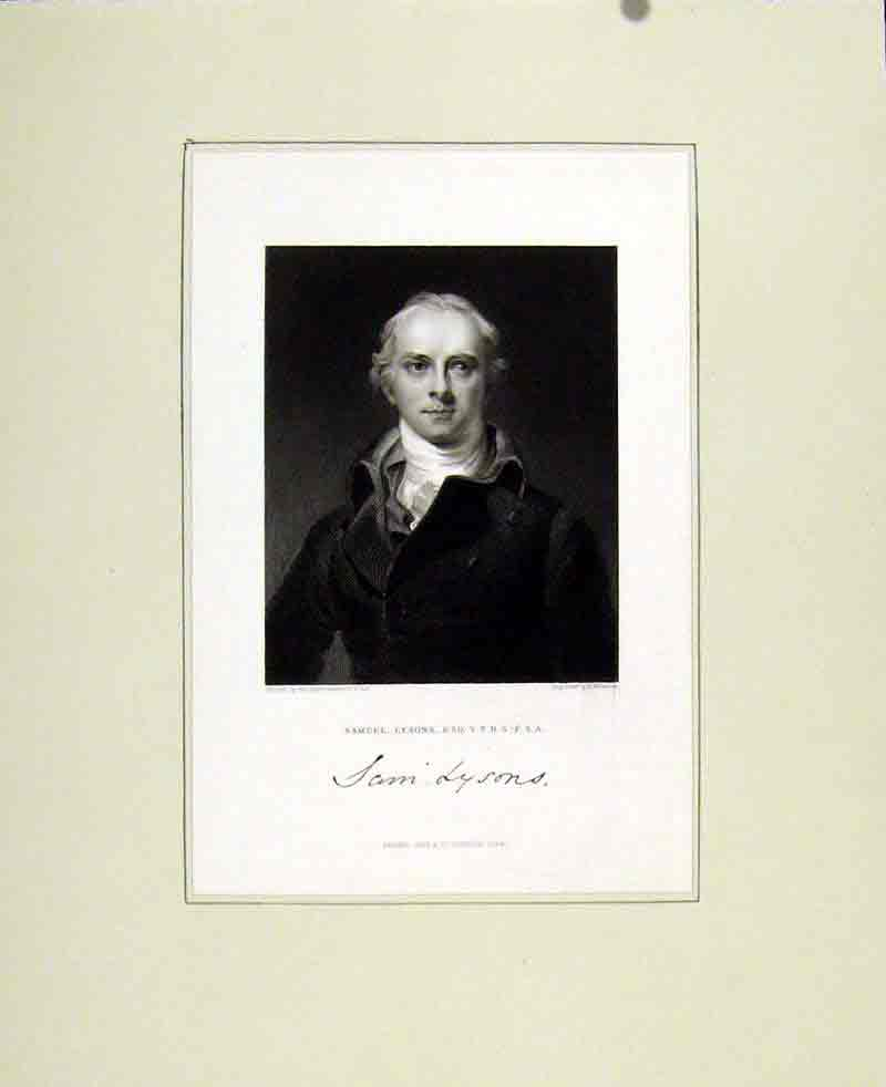 Print John Lysons Portrait C1830 967291 Old Original