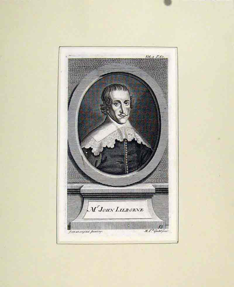Print John Lilborne Fine Art Portrait C1830 People 997291 Old Original