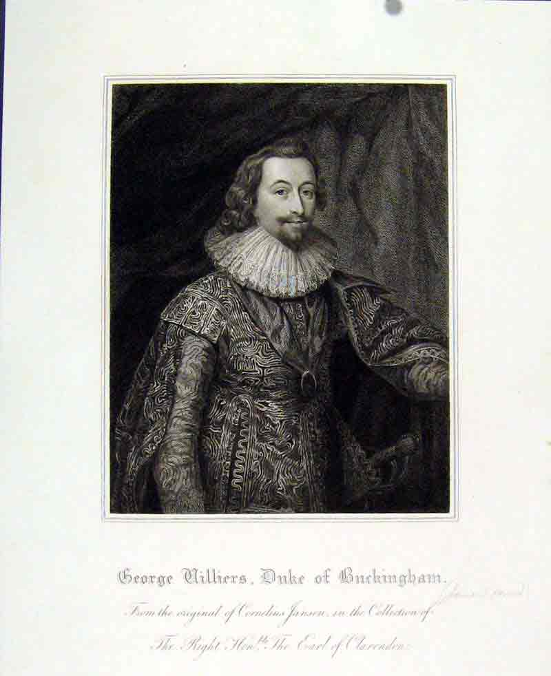 Print George Villiers Duke Buckingham Portrait 1830 247291 Old Original