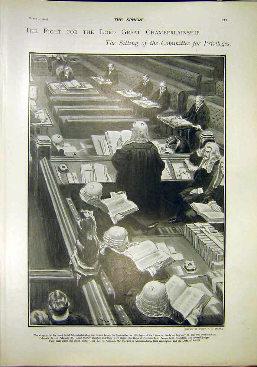 Print Committee Privileges Lord Great Chamberlainship 1902 117311 Old Original