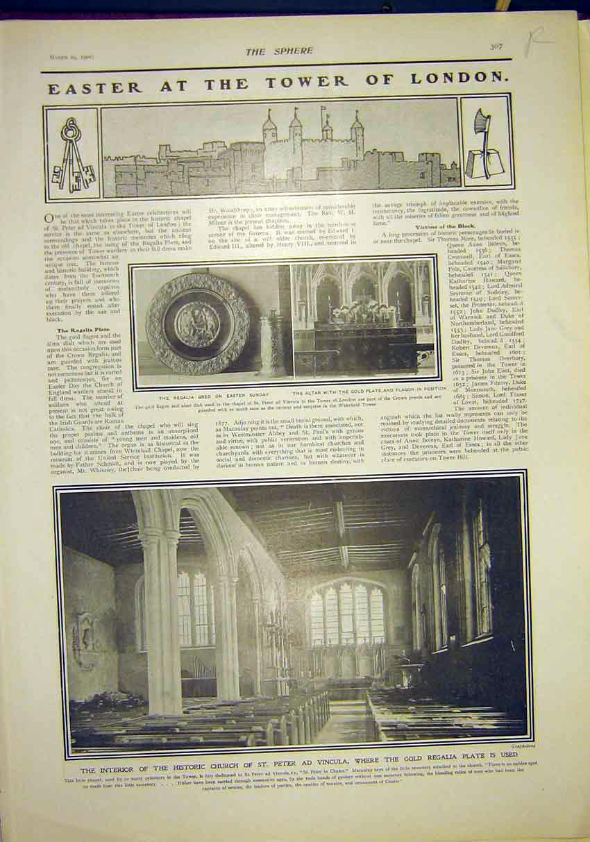 Print Easter Tower London Stars Universe Astronomy 1902 07R7311 Old Original