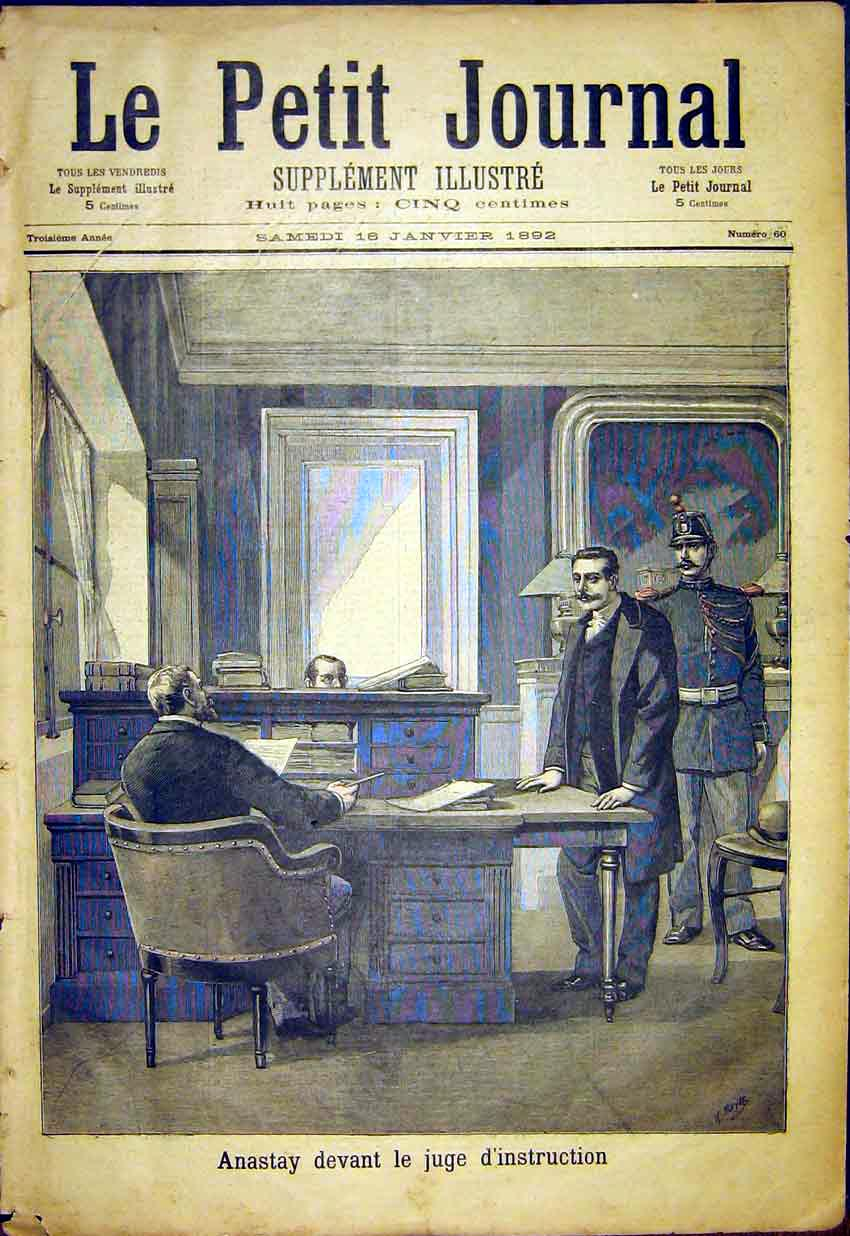 Print Anastay Judge Magistrate Court French 1892 187391 Old Original