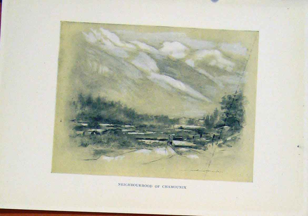 Print Neighbourhood Chamounix C1919 Art 147411 Old Original
