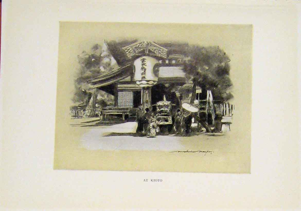 [Print Speia Style Kioto Chinese China C1919 447411 Old Original]