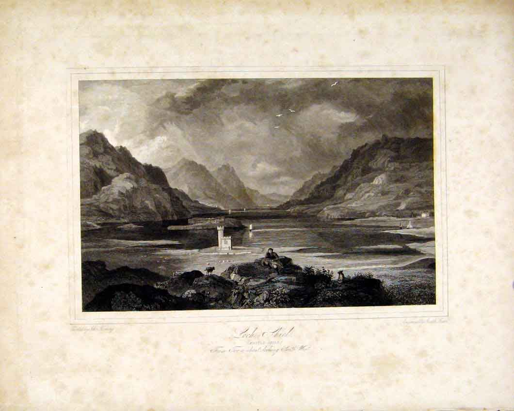 Print Loch Shiel Aroyleshire Scotland Lakes Fine Art 327491 Old Original