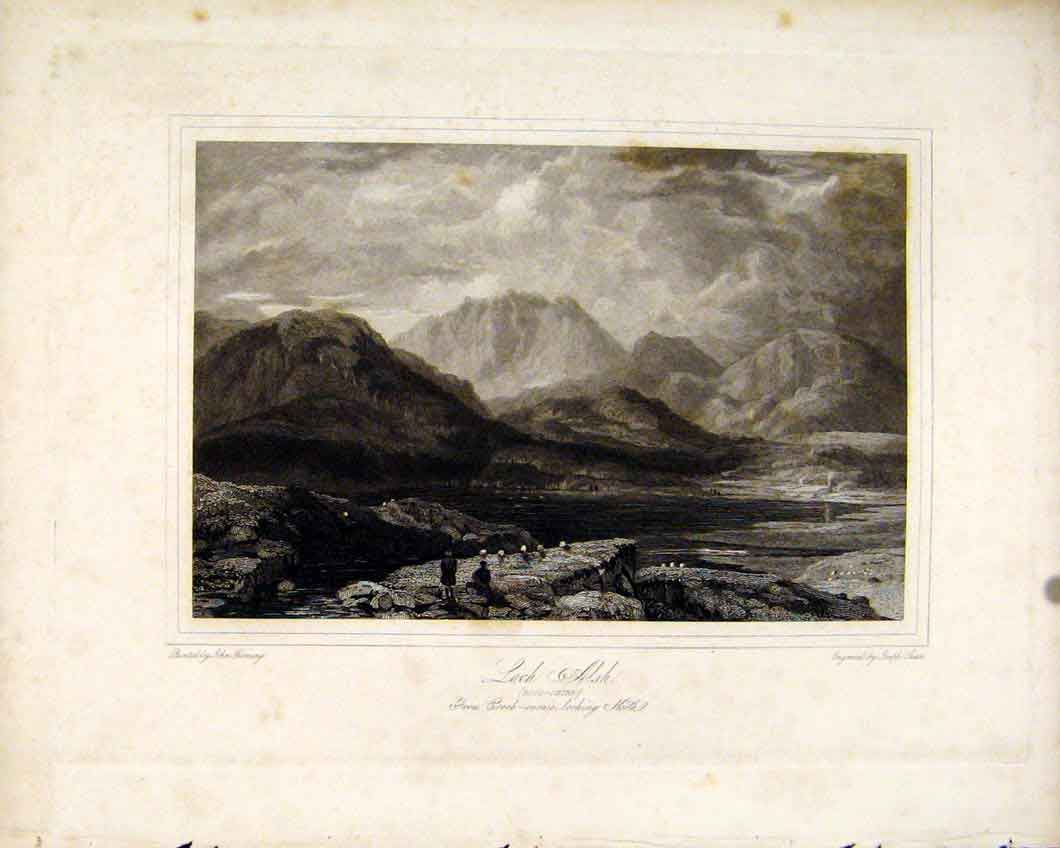 Print Scotland Loch Alsh Rosshire C1836 Scottish 447491 Old Original