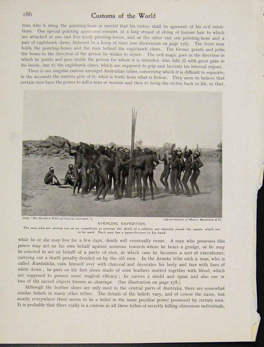 Print Australia Tribe Avenging Expedition Photo C1931 867521 Old Original