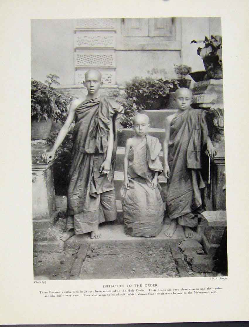 Print Initiation Burman Holy Order Photograph Culture C1931 687521 Old Original