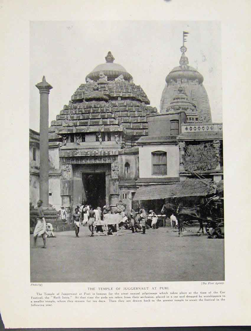 Print Temple Juggernaut Puri Photograph C1931 487521 Old Original