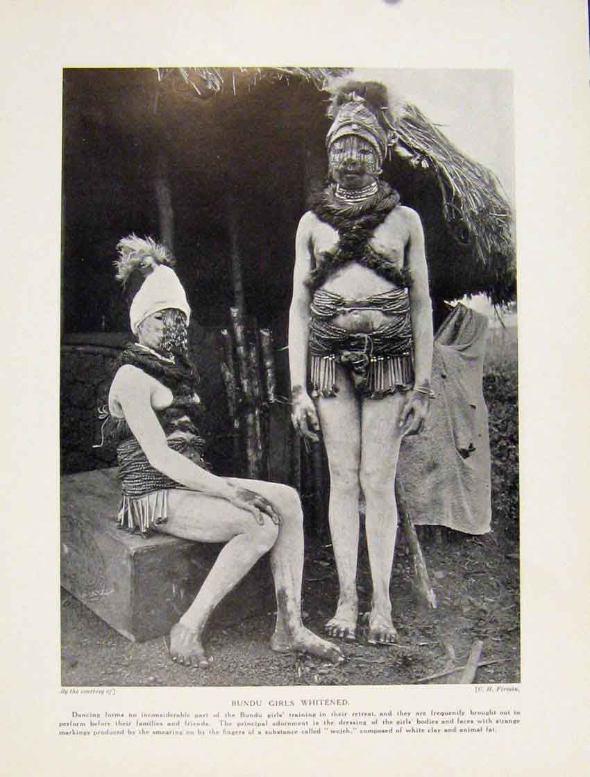 Print Bundu Initiates Dancing Dressfine Art C1931 7767531 Old Original