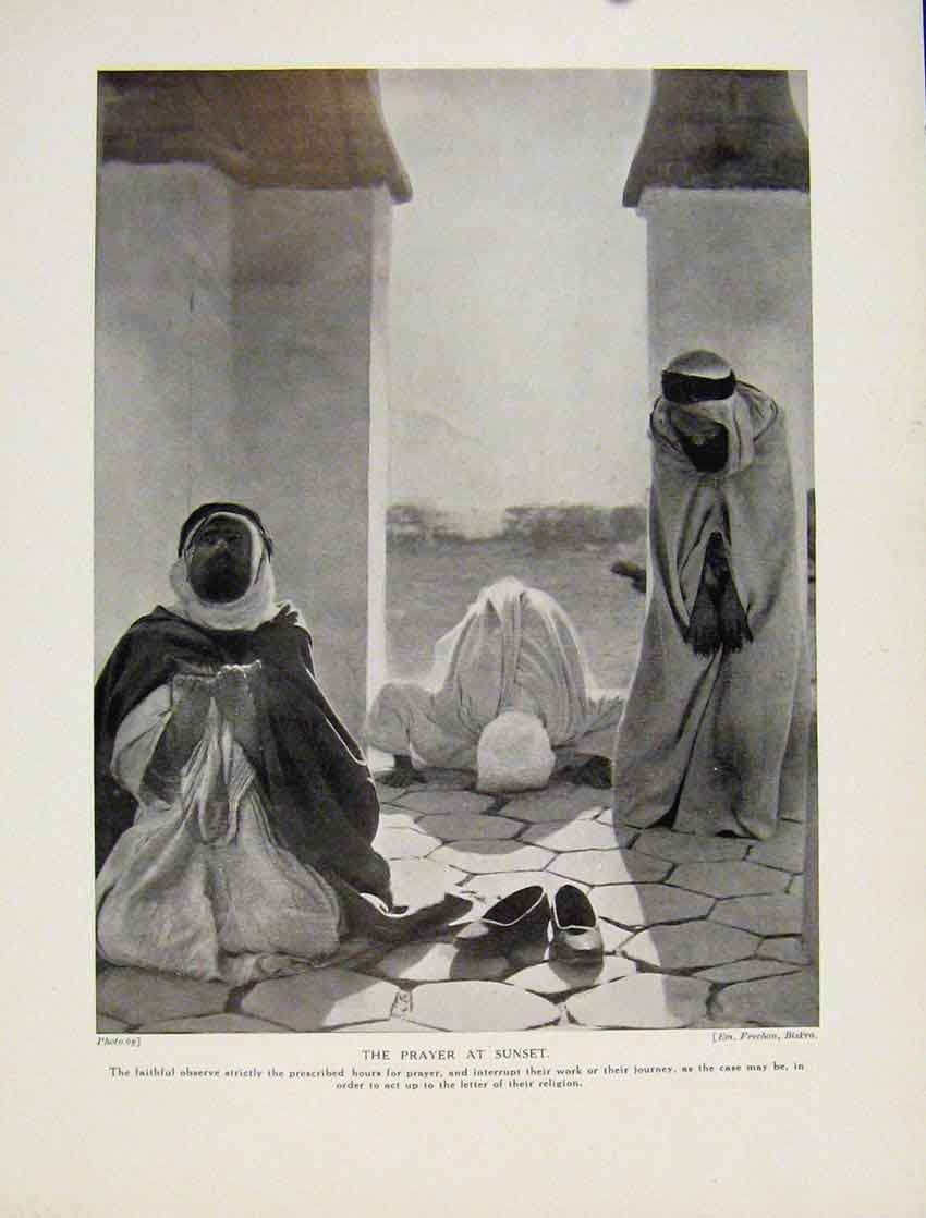Print Berber Wedding Africa Bedawin Fine Art C1931 8367531 Old Original