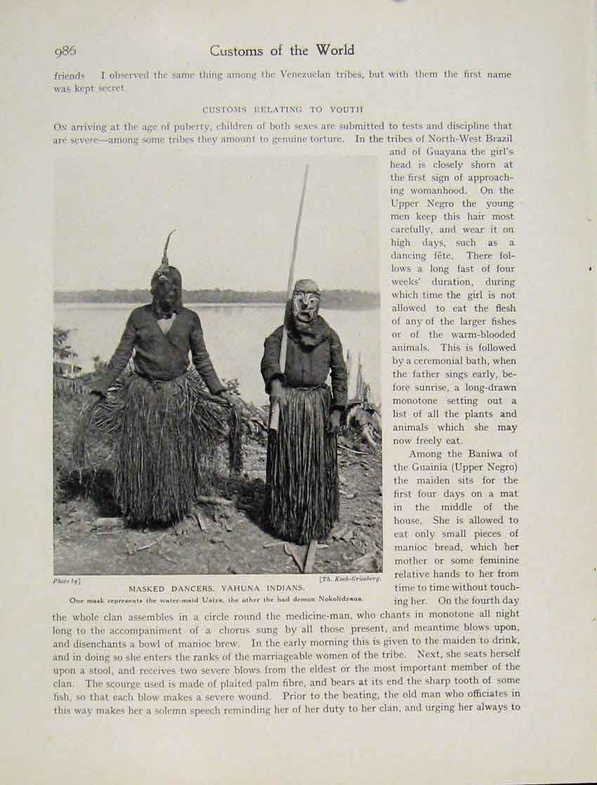 Print Treatment Disease Sakalava Tribe Fine C1931 9867531 Old Original