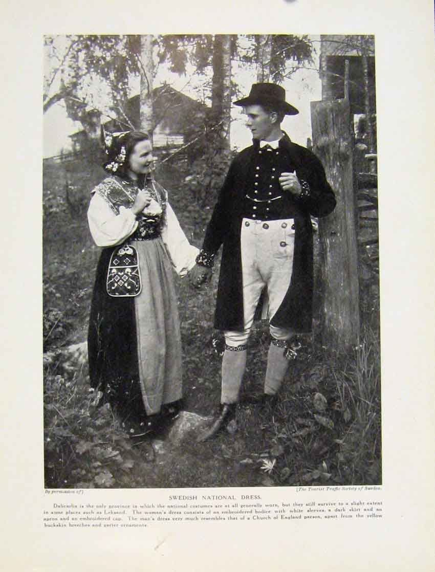 Print Norwegian National Dress Norway Hardanger Sactersdal 1247531 Old Original