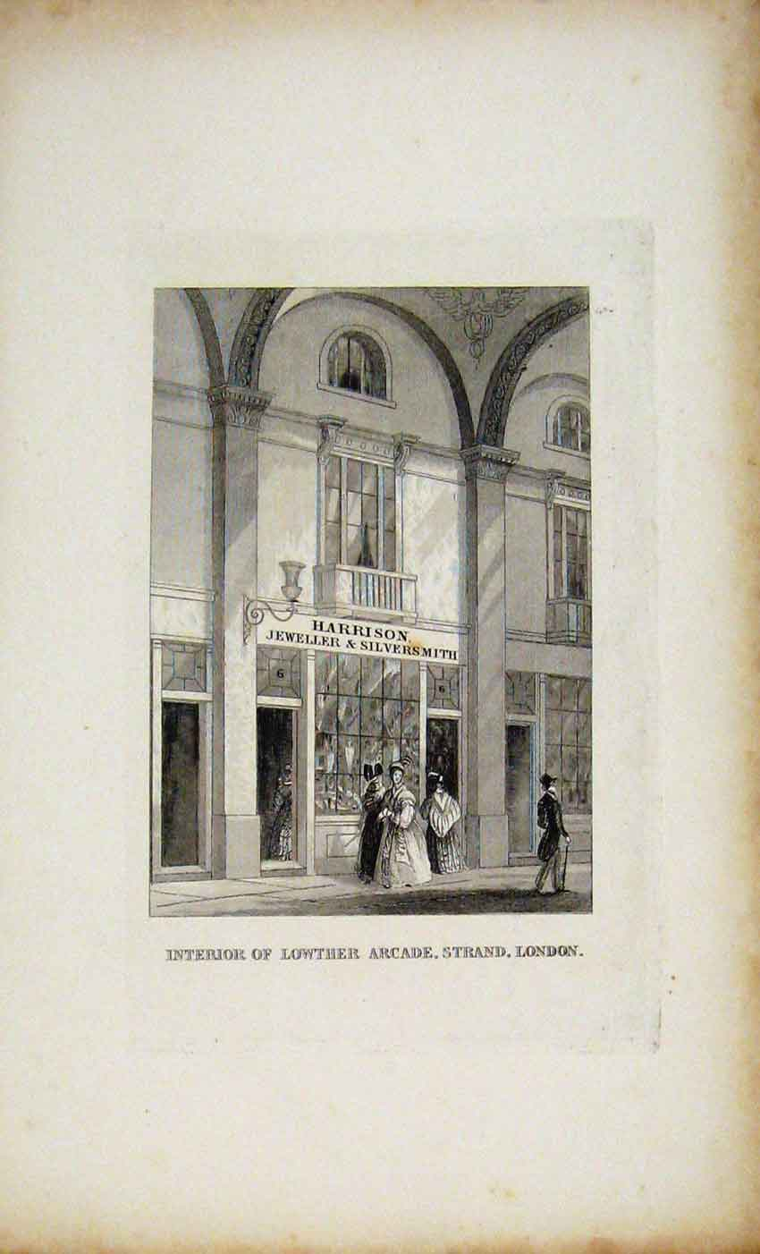 Print Dugdale C1845 Lowther Arcade Strand London 667541 Old Original