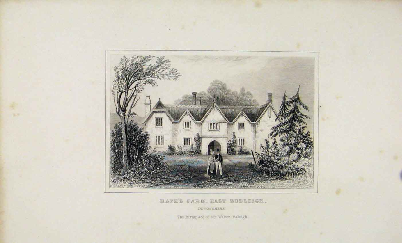 Print Ha1 Farm East Budleigh Devonshire Dugdale C1845 887541 Old Original