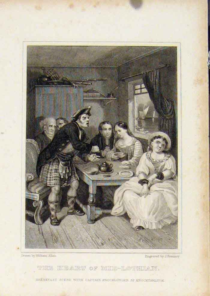 Print From Waverly Novels By Walter Scott The Heart Mid Lothian 127561 Old Original