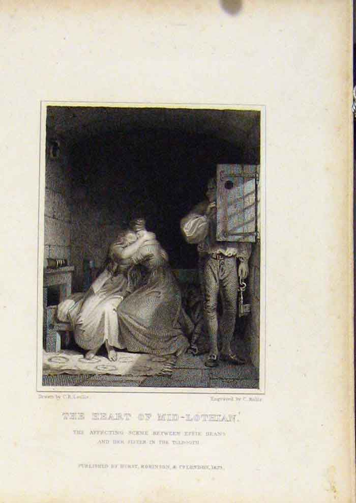 Print From Waverly Novels By Walter Scott Heart Mid Lothian 147561 Old Original