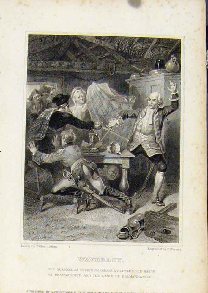 Print From Waverly Novels By Walter Scott Waverley 417561 Old Original