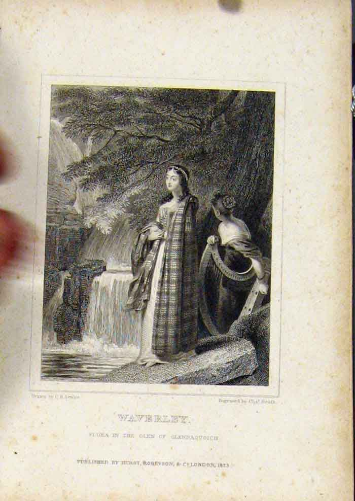 Print From Waverly Novels By Walter Scott Waverly 427561 Old Original