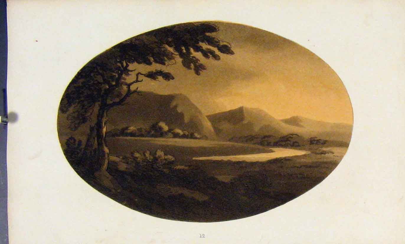 Print Loch Tay Sepia Highlands Scotland C1808 127581 Old Original
