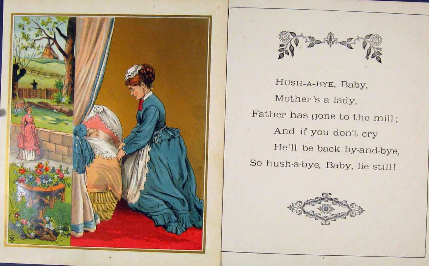 Print Gc1875 Hush A Bye Baby Aunt Louisas Golden 077601 Old Original