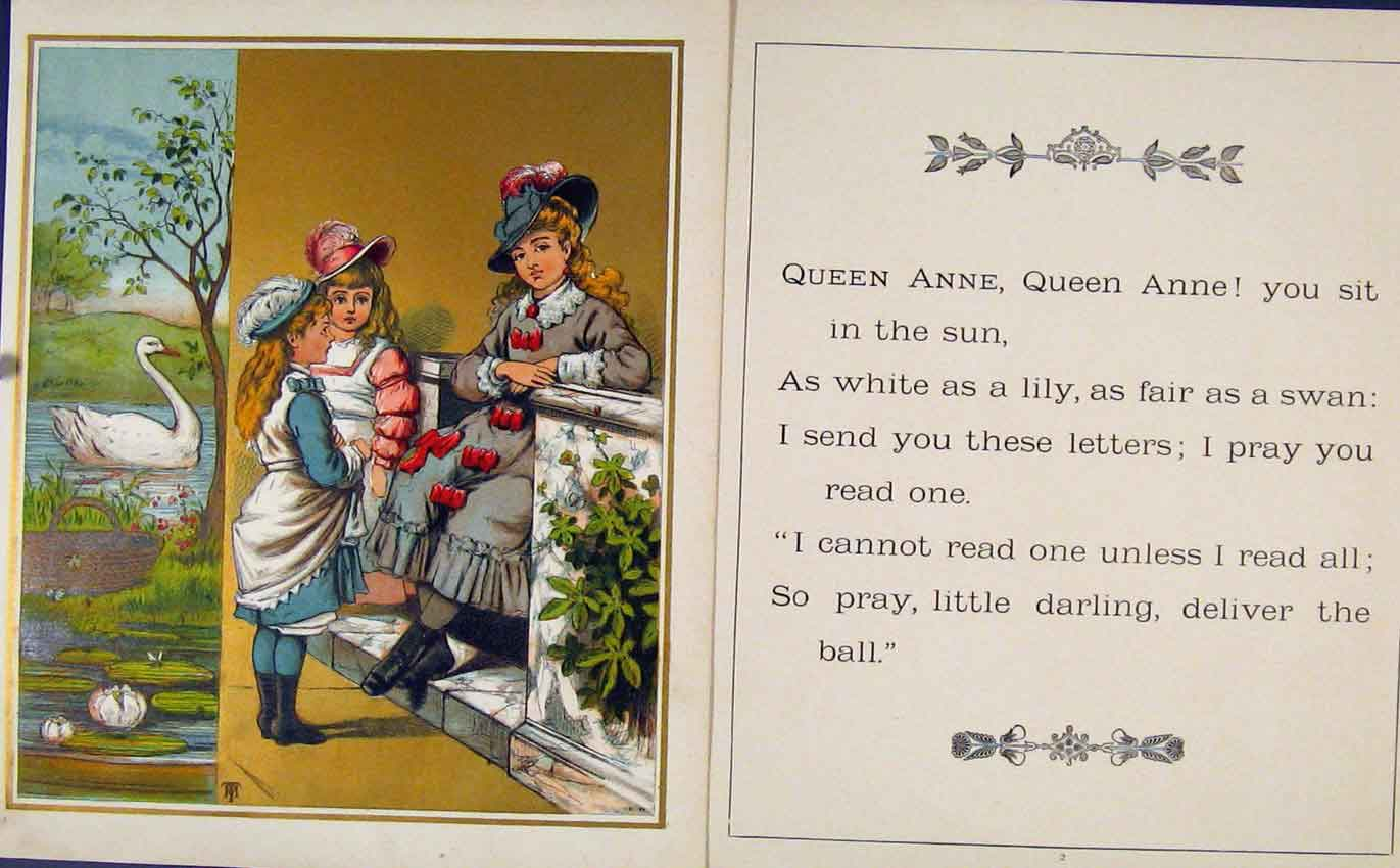 Print Queen Ann You Sit In The Sun Gc1875 207601 Old Original