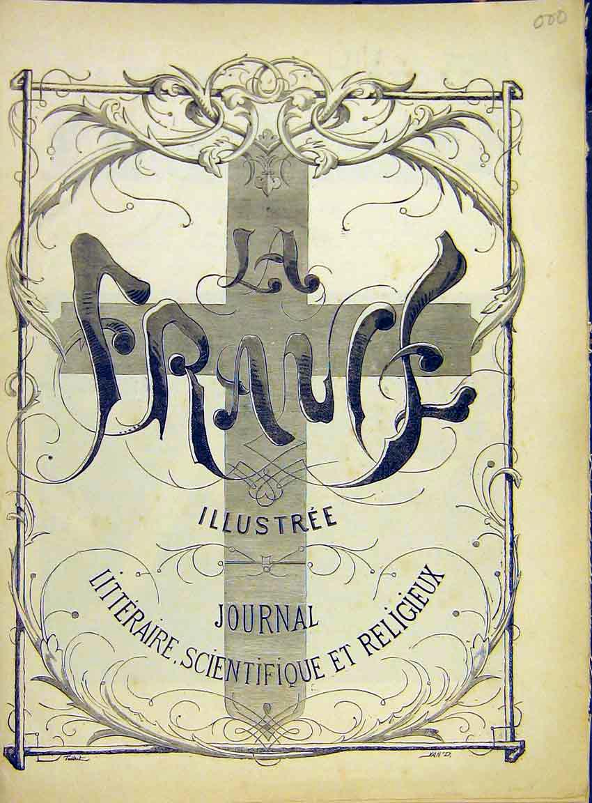 Print Front-Page France Illustree Journal Religious 1882 007630 Old Original