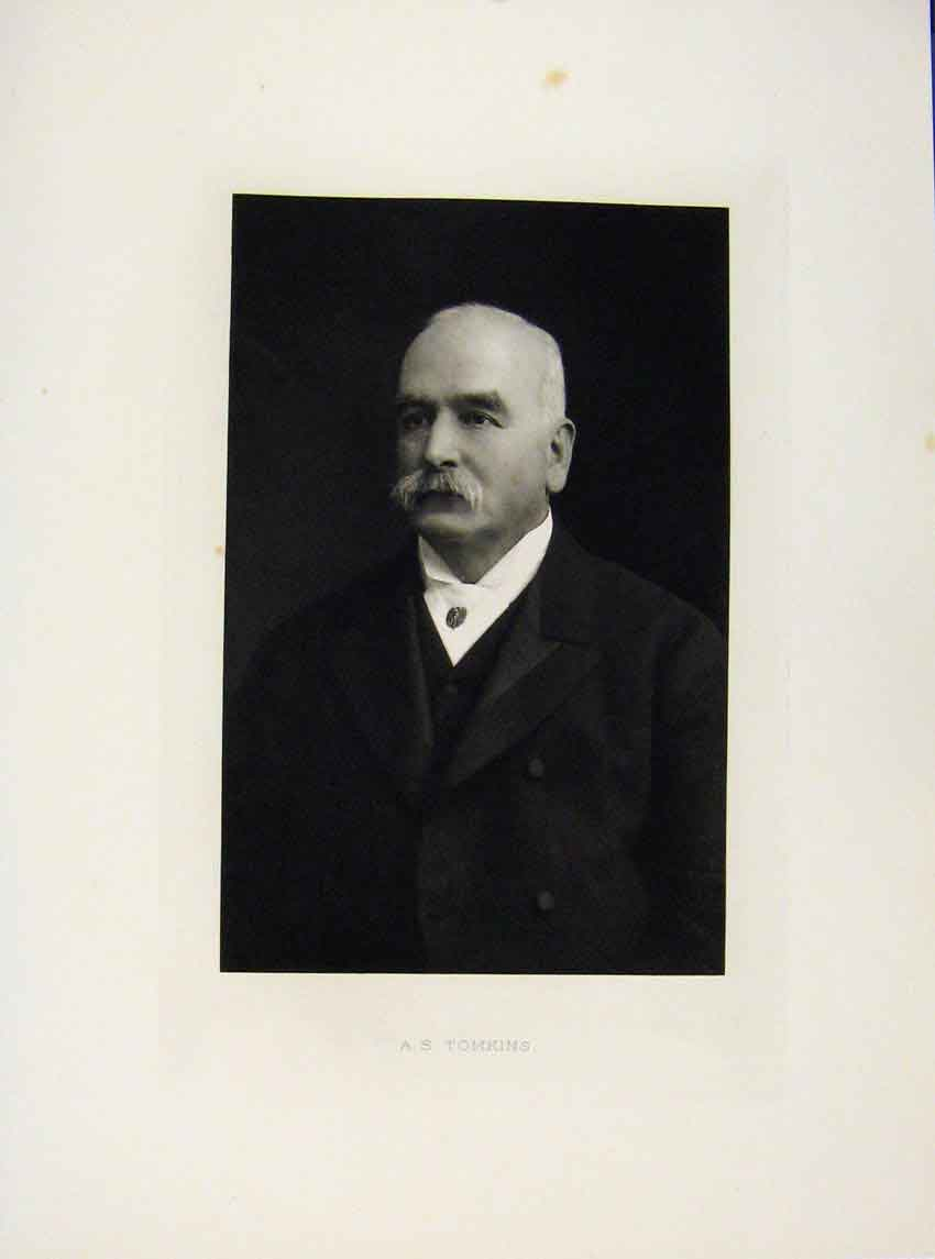 Print London Men A Tomkins C1898 Portrait Art 037641 Old Original