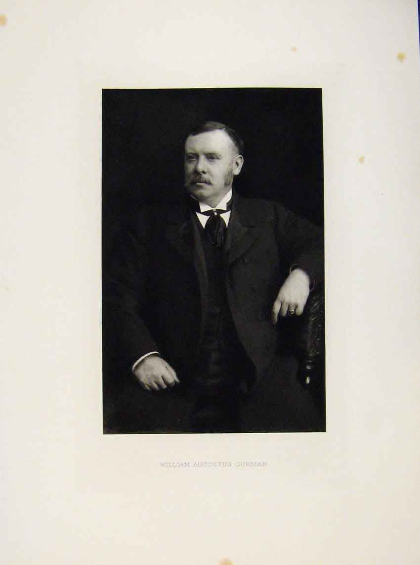 Print London Men William Augustus Gorman Portrait C1898 217641 Old Original
