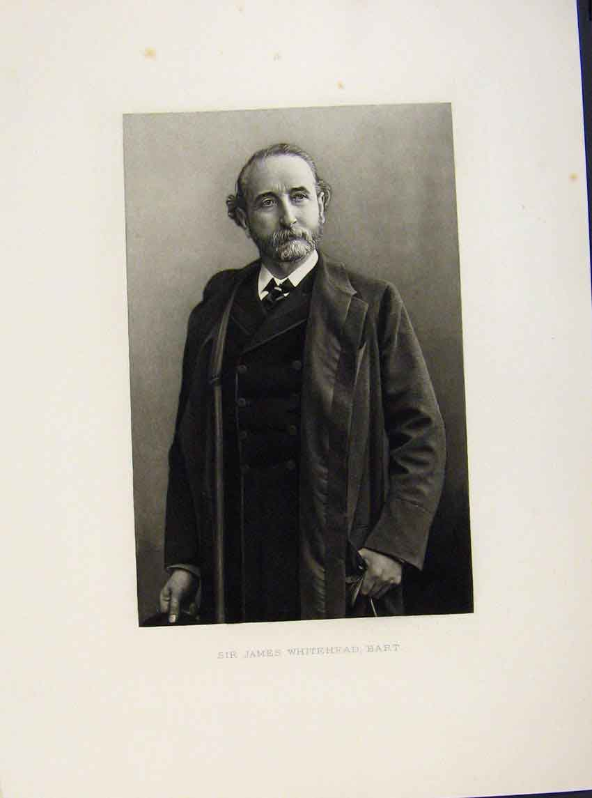 Print London Men Sir James Whitehead Bart Portrait C1898 Art 467641 Old Original