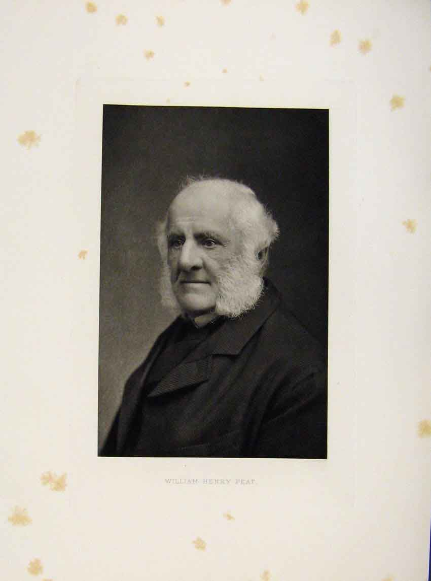 Print London Men William Henry Peat Portrait C1898 667641 Old Original