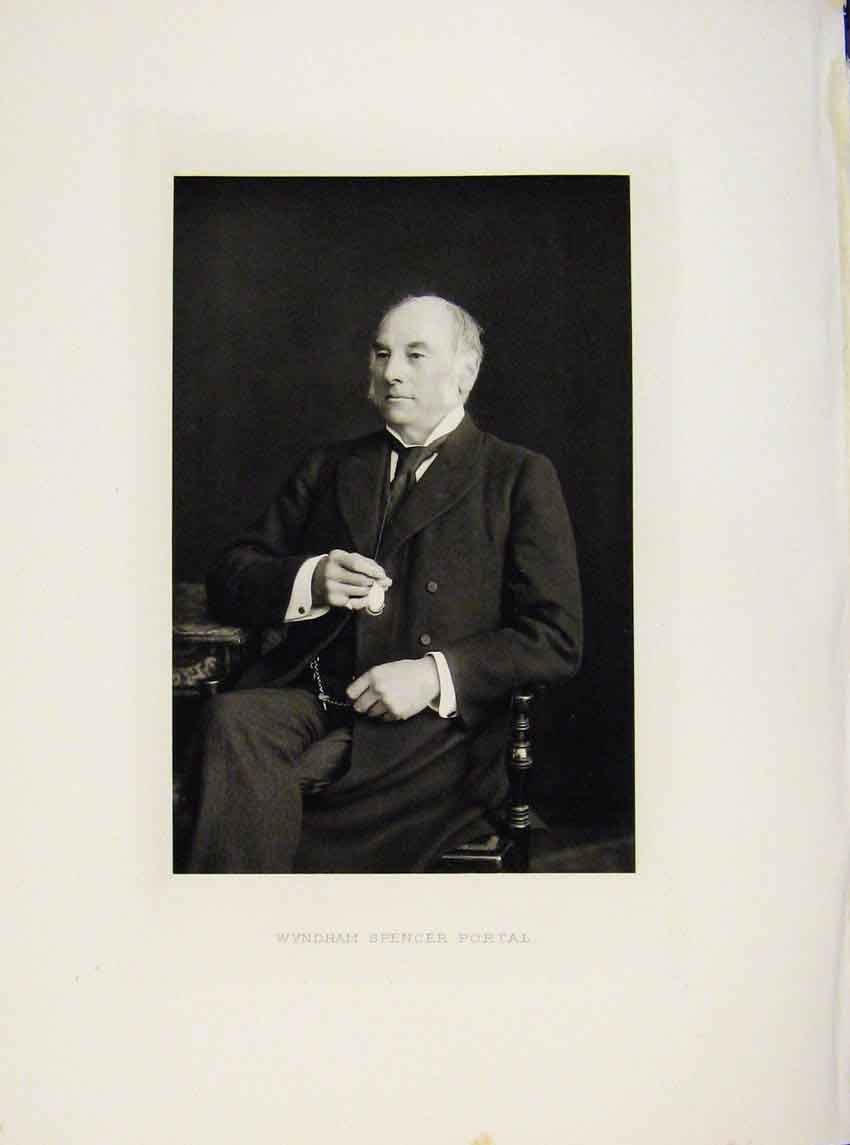 Print London Men Wyndham Spencer Portal Portrait C1898 Art 697641 Old Original