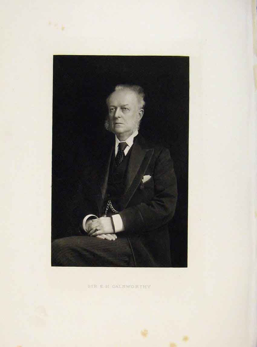 Print London Men Sir E H Galsworthy Portrait C1898 777641 Old Original