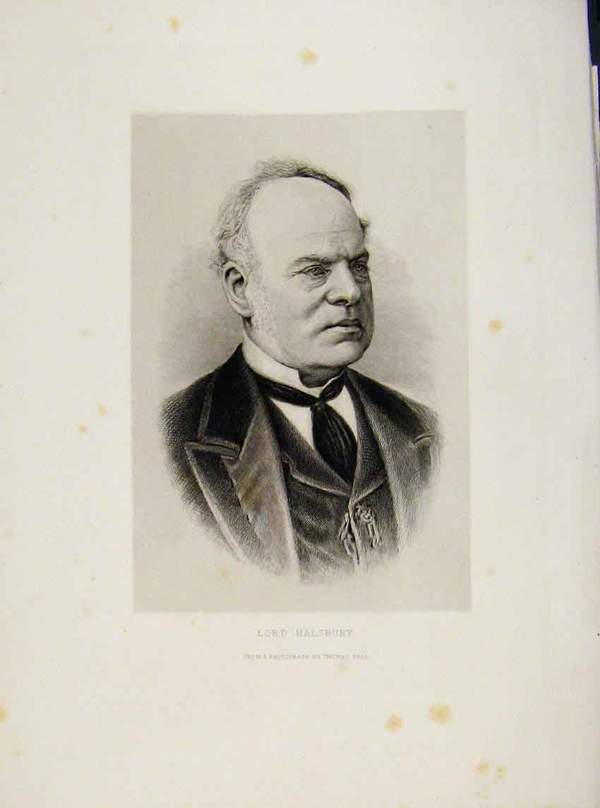 Print London Men Lord Halsbury Portrait C1898 857641 Old Original