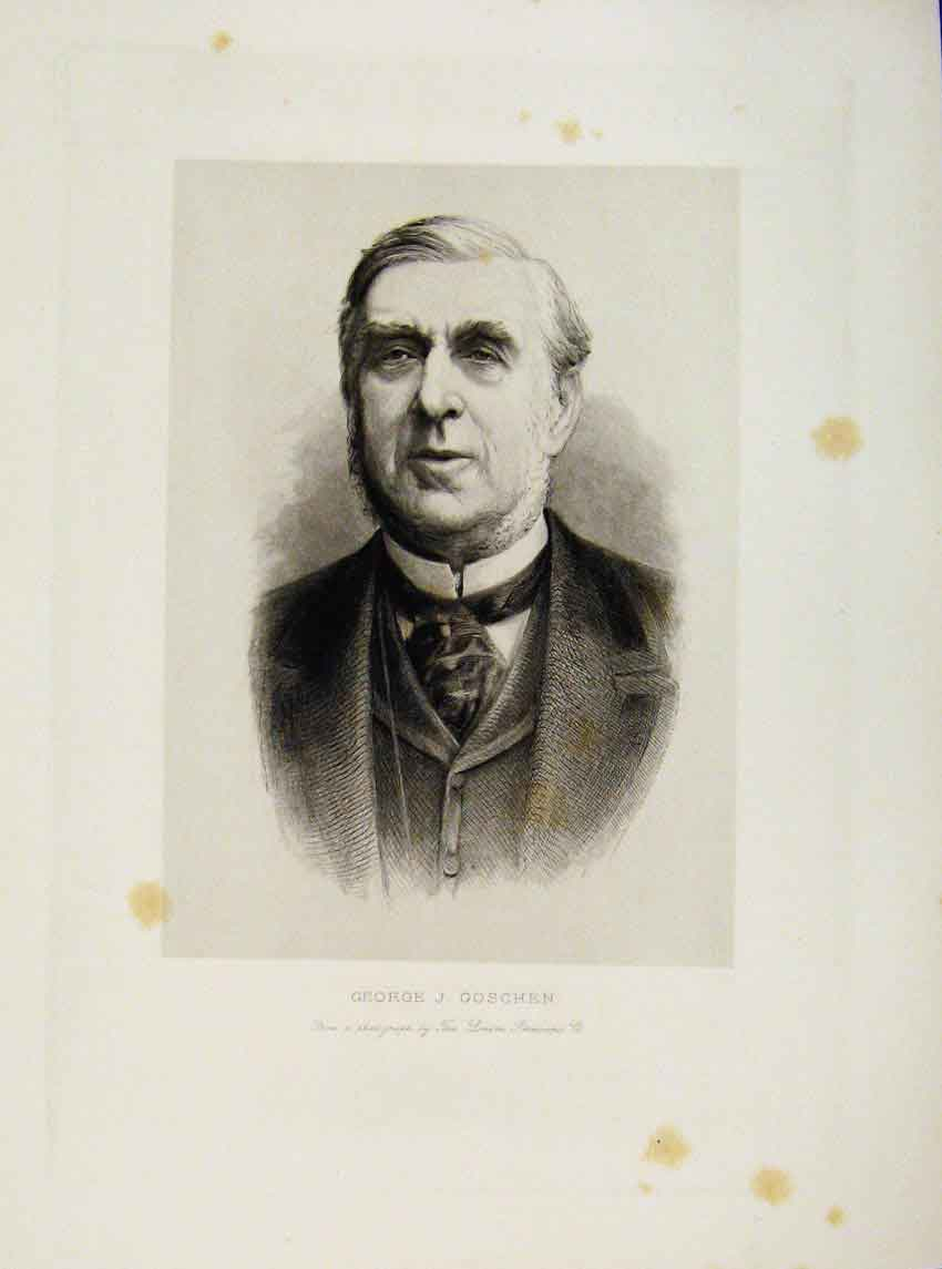 Print London Men George Goschen Portrait C1898 887641 Old Original