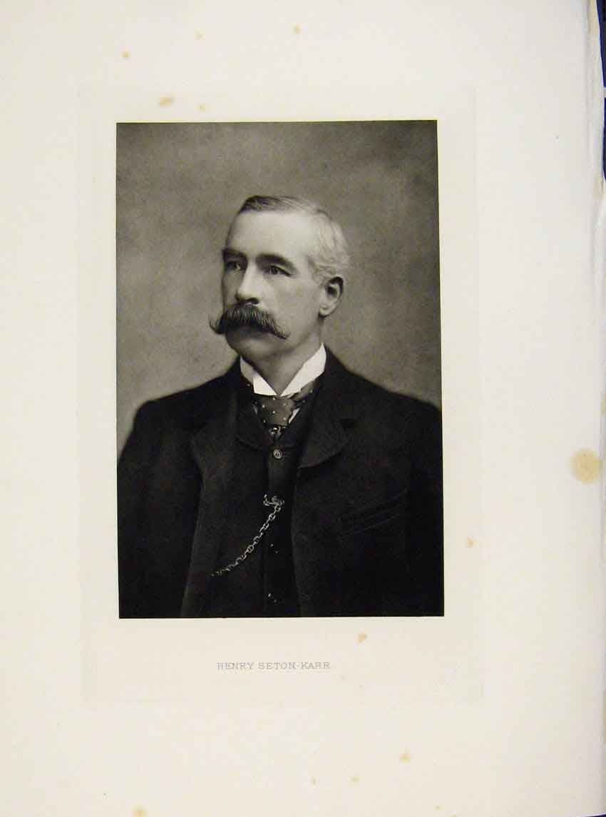 Print London Men Henry Secton Karr C1898 Portrait 947641 Old Original