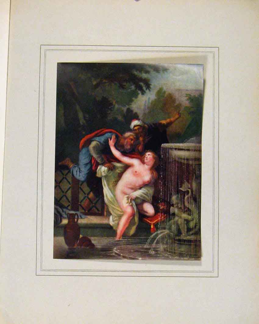 Print Limited Edition Susanna And The Elders By J Christophe 017711 Old Original