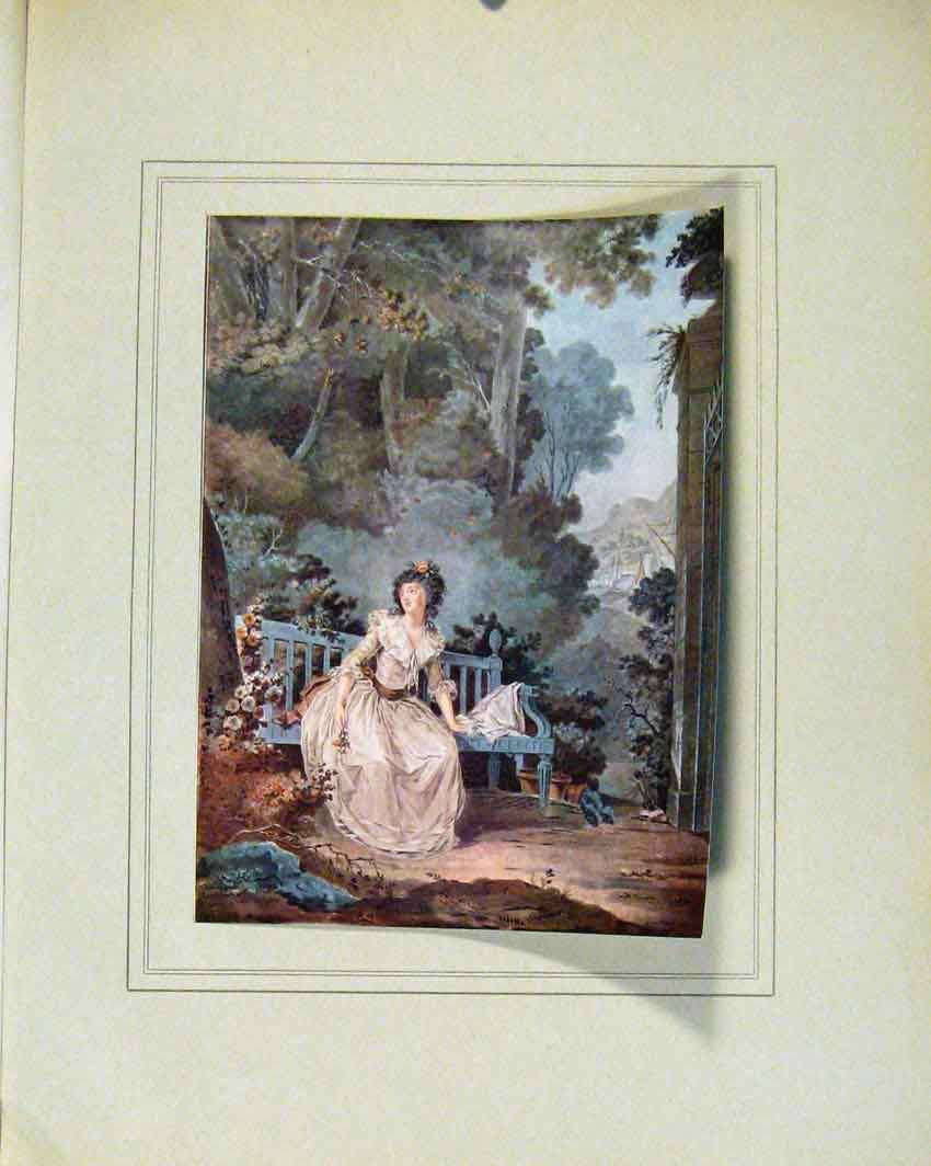 Print Limited Edition Madame Dugazon Role By J Francois 057711 Old Original
