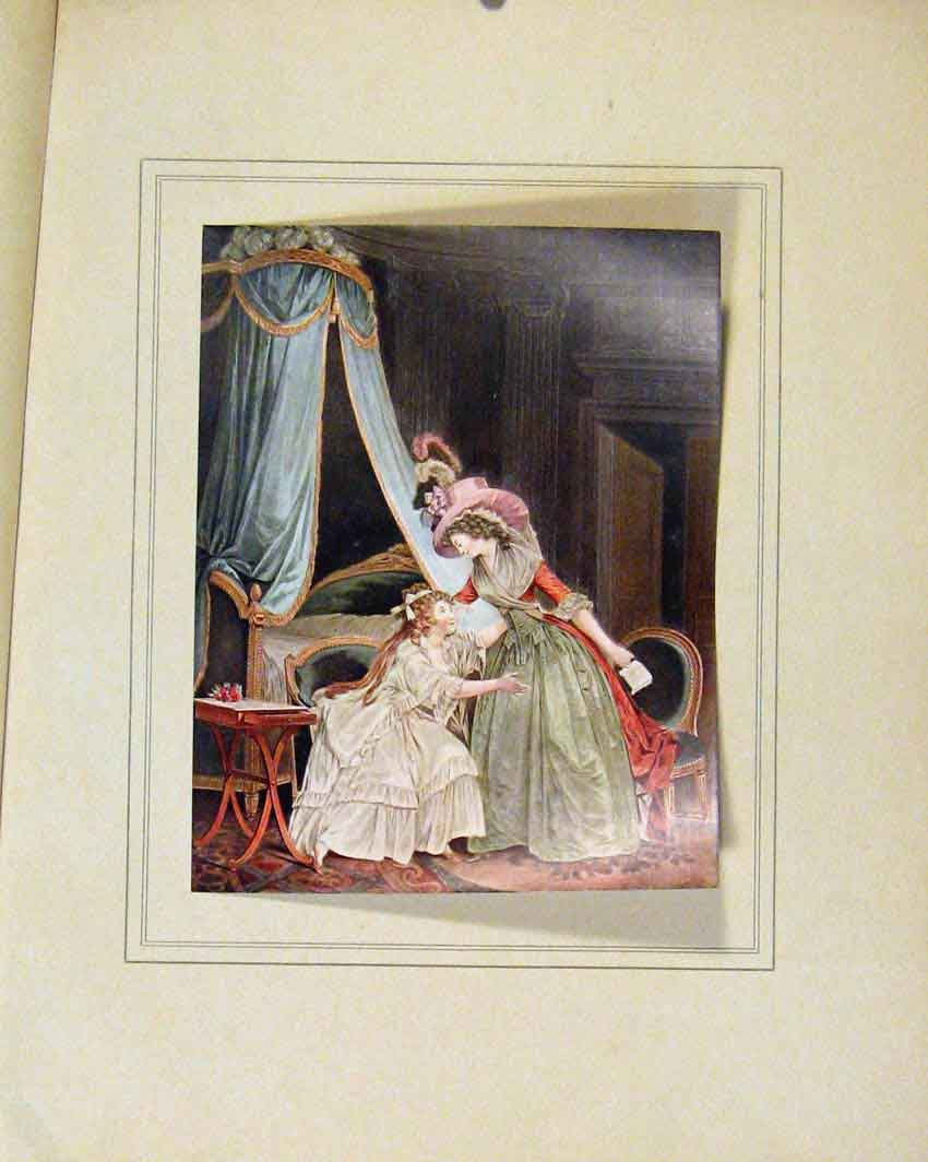 Print Limited Edition Lindiscretion By Jean Francois 087711 Old Original