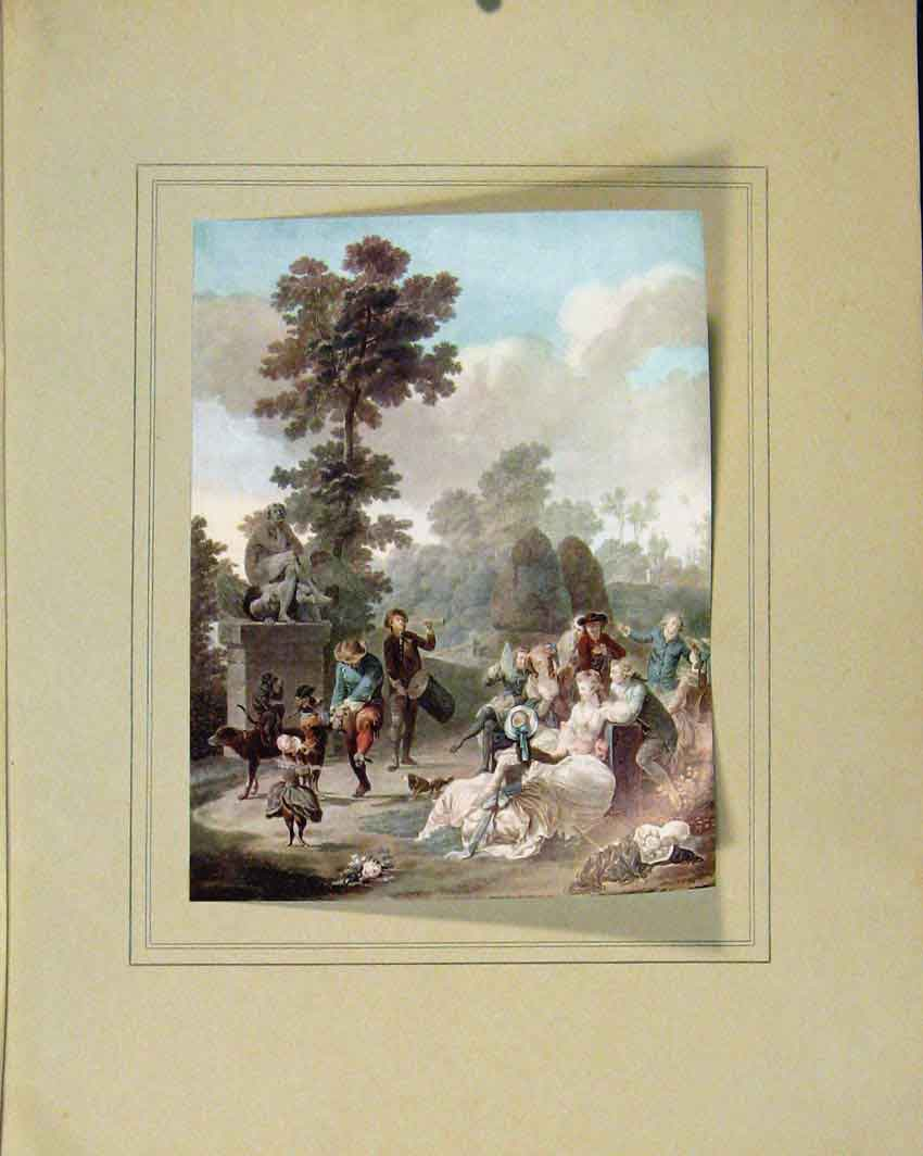 Print Le Tambourin By C Descourtis Limited Edition 157711 Old Original