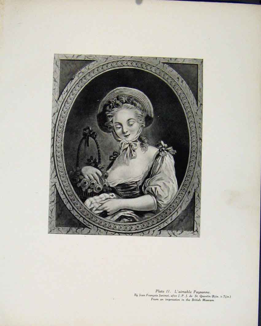 Print Laimable Paysanne By J Francois Limited Edition 087711 Old Original